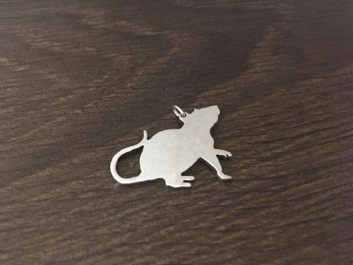 Rat  pendant sterling silver handmade by saw piercing Caroline Howlett Design